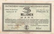 3,000,000 Mark – obverse