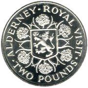 2 Pounds - Elizabeth II (Royal Visit) – reverse