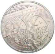 5 Pounds - Elizabeth II (Train Crossing the Viaduct) -  reverse