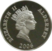 5 Pounds - Elizabeth II (Sir Isaac Newton; Silver Proof Issue) -  obverse