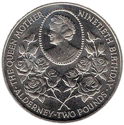 2 Pounds - Elizabeth II (Queen Mother's 90th Birthday) -  reverse