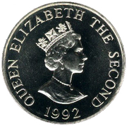 2 Pounds - Elizabeth II (40th Anniversary of Queen's Reign) -  obverse