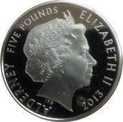 5 Pounds - Elizabeth II (Investiture) – obverse