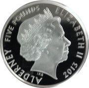 5 Pounds - Elizabeth II (Coronation Jubilee) – obverse