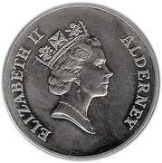 2 Pounds - Elizabeth II (Golden Wedding) -  obverse