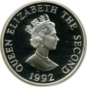 2 Pounds - Elizabeth II (40th Anniversary of Queen's Reign; Silver Proof Issue) -  obverse