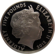 5 Pounds - Elizabeth II (Titanic; Silver Proof Issue) -  obverse