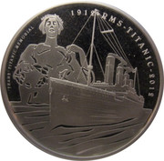5 Pounds - Elizabeth II (Titanic; Silver Proof Issue) -  reverse