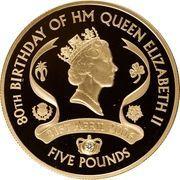 5 Pounds - Elizabeth II (Queen Elizabeth II; Gold Proof Issue) -  reverse