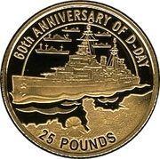 25 Pounds - Elizabeth II (D-Day) – reverse