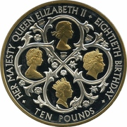 10 Pounds - Elizabeth II (Birthday) -  reverse