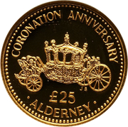25 Pounds - Elizabeth II (State Coach) -  reverse