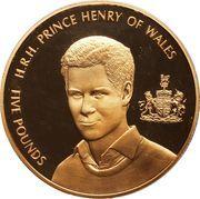 5 Pounds - Elizabeth II (Prince Henry of Wales) -  reverse