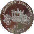 1 Pound - Elizabeth II (Coronation Jubilee) – reverse