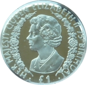 1 Pound - Elizabeth II (Queen Elizabeth II) – reverse