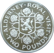 2 Pounds - Elizabeth II (Royal Visit; Silver Proof Issue) -  reverse