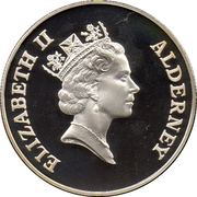2 Pounds - Elizabeth II (Total Eclipse of the Sun; Silver Proof Issue) -  obverse