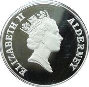 5 Pounds - Elizabeth II (Queen Mother receiving flowers) -  obverse