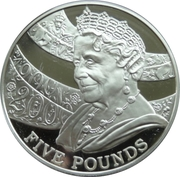5 Pounds - Elizabeth II (Queen Mother) -  reverse