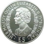 5 Pounds - Elizabeth II (Queen Elizabeth II) -  reverse