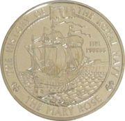 5 Pounds - Elizabeth II (Mary Rose) -  reverse