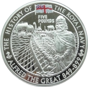 5 Pounds - Elizabeth II (Alfred the Great) -  reverse