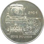 5 Pounds - Elizabeth II (21C 1 Locomotive) -  reverse