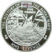 5 Pounds - Elizabeth II (H.M.S. Revenge) -  reverse