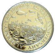 2 Pounds - Elizabeth II (D-Day; Silver Issue) – reverse