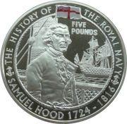 5 Pounds - Elizabeth II (Samuel Hood) -  reverse