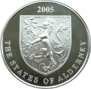 5 Pounds - Elizabeth II (John Woodward) -  obverse