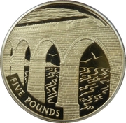 5 Pounds - Elizabeth II (Train on Viaduct) -  reverse