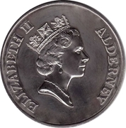 2 Pounds - Elizabeth II (Puffins; Silver issue) -  obverse