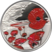 5 Pounds - Elizabeth II (Remembrance Day) -  reverse