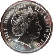5 Pounds - Elizabeth II (1966 FIFA World Cup) – obverse