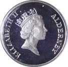 1 Pound - Elizabeth II (VE Day) – obverse