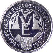 1 Pound - Elizabeth II (VE Day) – reverse