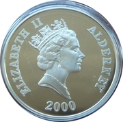 5 Pounds - Elizabeth II (Battle of Britain; Silver Proof Issue) -  obverse