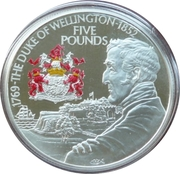 5 Pounds - Elizabeth II (Duke of Wellington) -  reverse