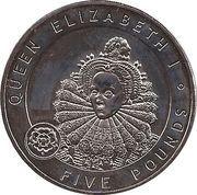 5 Pounds - Elizabeth II (Elizabeth I) -  reverse