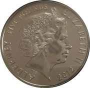 5 Pounds - Elizabeth II (Poppy, We Will Remember Them) -  obverse