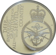5 Pounds - Elizabeth II (Gratitude to the Armed Forces) -  reverse