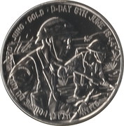 5 Pounds - Elizabeth II (D-Day) -  reverse