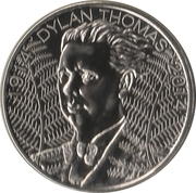 5 Pounds - Elizabeth II (Dylan Thomas) – reverse