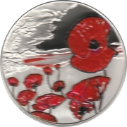 5 Pounds - Elizabeth II (Remembrance Day; Silver Piedfort) -  reverse