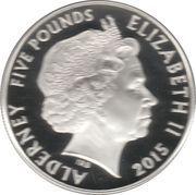 5 Pounds - Elizabeth II (Remembrance Day; silver) – obverse