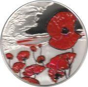 5 Pounds - Elizabeth II (Remembrance Day; silver) – reverse