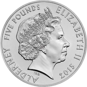 "5 Pounds - Elizabeth II (""The Man"") -  obverse"