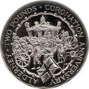 2 Pounds - Elizabeth II (Coronation Jubilee) – reverse