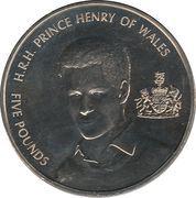 5 Pounds - Elizabeth II (Prince Henry) -  reverse